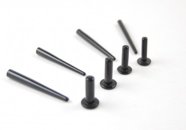 Labrets & tapers black polymer