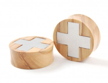 Plugs medical cross - olive tree - 30 mm