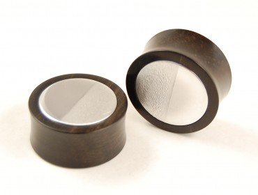 Plugs custom ebony/metal 30 mm