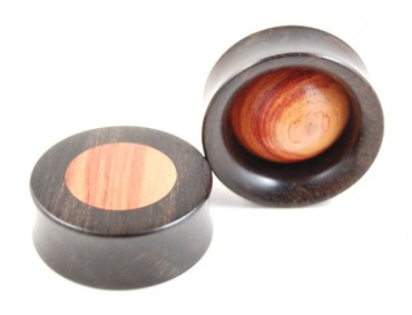 "Plugs ""bulbe"" bois de rose"