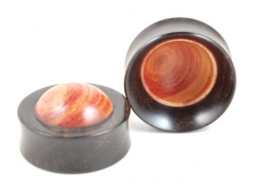 "Plugs ""bowl"" bois de rose"