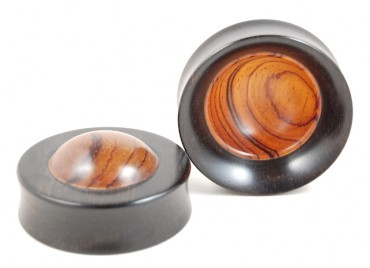 "Plugs ""bowl"" cocobolo"